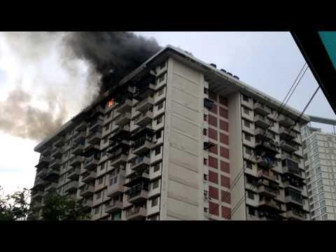 Video 6 Unit Kediaman Flat PKNS Kg Kerinchi Musnah Terbakar
