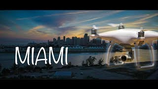 Sunset views of the city of Miami with my drone