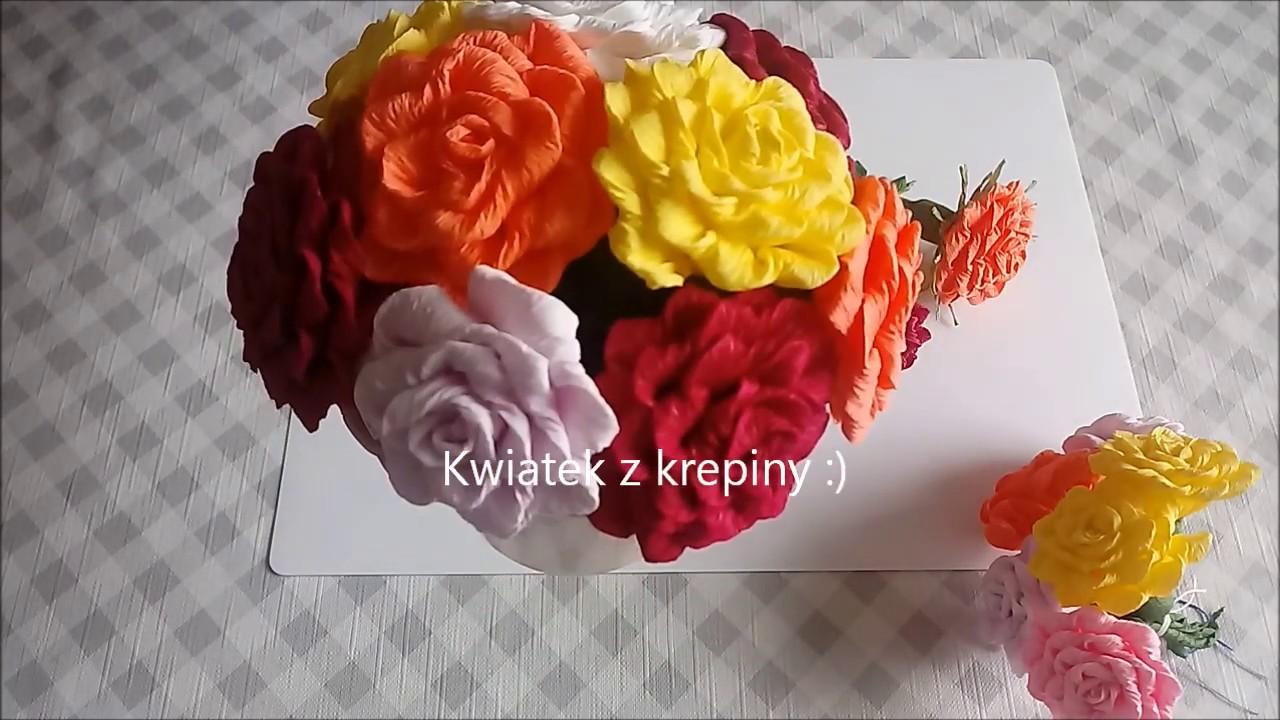 Kwiatek Z Krepiny Do Palmy Wielkanocnej Youtube