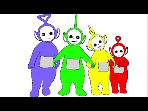 Thumbnail: Learn Colours For Children With Teletubbies Colouring Pages