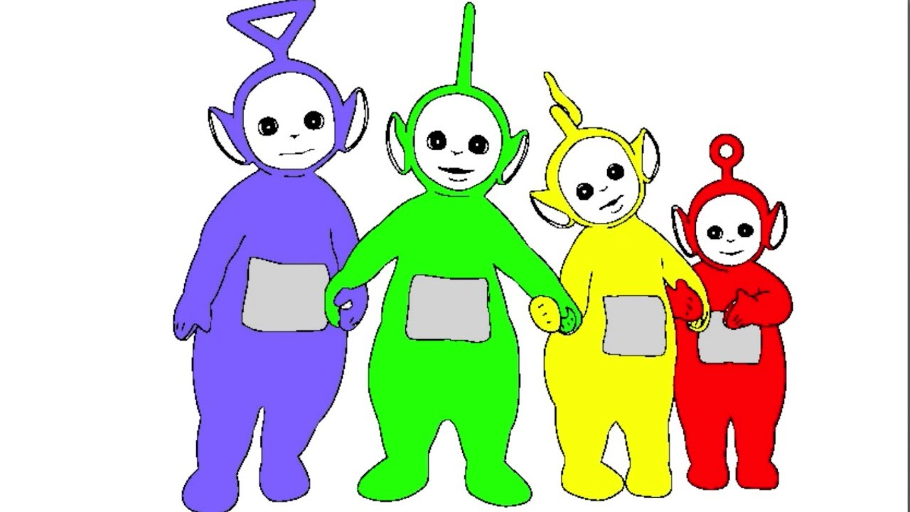 Learn Colours For Children With Teletubbies Colouring Pages YouTube