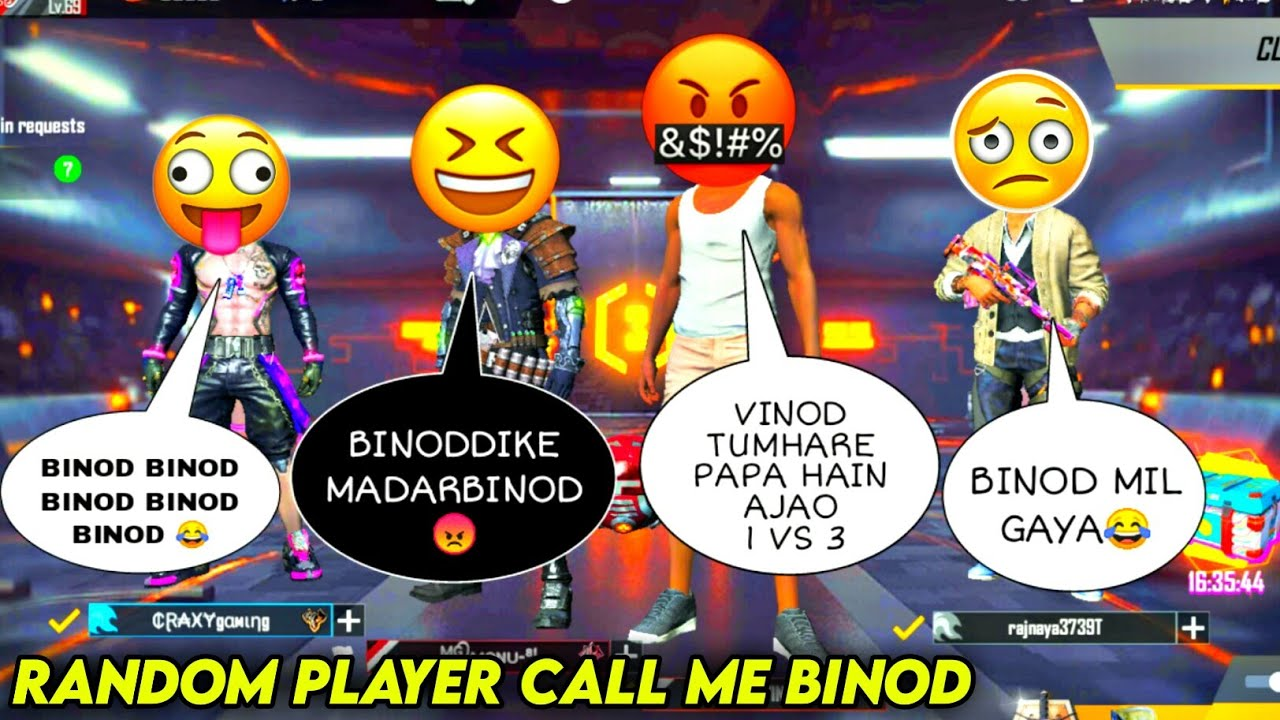 Random player call me 👉BINOD👈 and I challange for 1vs3 Room | Free Fire | RAJPUT GAMING