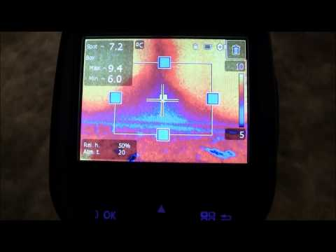 Thermal camera finds a sewage leak not visible to the eye.
