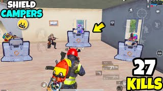 NEW Shield Campers Are Extremely DANGEROUS in BGMI • (27 KILLS) • BGMI (Hindi)