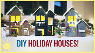 PLAY |   Holiday House Craft from Recyclables!