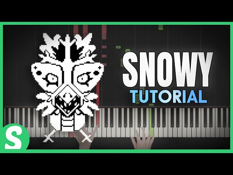 """How to play """"SNOWY"""" from Undertale 