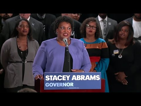 Stacey Abrams holds a news conference