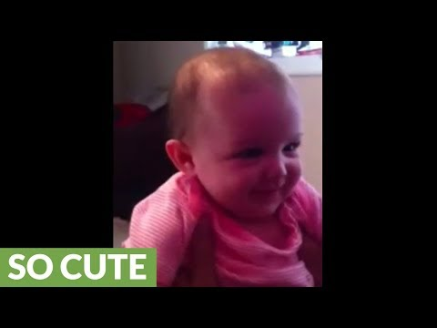 Baby girl can't stop hysterical laughter