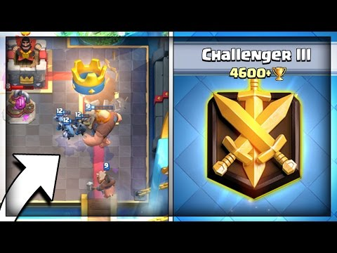 PUSHING TO CHALLENGER 3 LEAGUE! 4600+ TROPHY & GRAND CHALLENGE RUNS + CLAN BATTLES - CLASH ROYALE