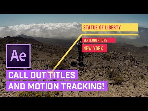 Call Out TITLES After Effects + AUTO Motion Tracking
