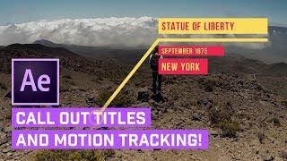 Rufen Sie TITEL Aus After Effects + AUTO-Motion-Tracking