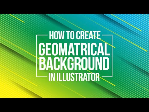 Illustrator Tutorial - How to Create Geometrical Background in adobe illustrator. thumbnail