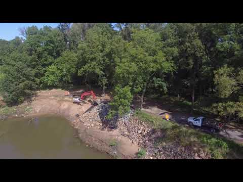 Workers Repair A Part Of The Arkansas River Trail In North Little Rock