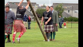 Win for Lukasz Wenta in Caber Toss Heavy event during 2019 Stonehaven Highland Games in Scotland