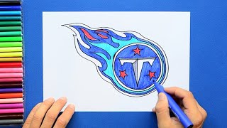 How to draw and color the Tennessee Titans logo - NFL team series