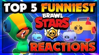 Brawl Stars Top 5 Funniest Reactions to Unboxing Leon (RIP Kairos u0026 DLG)