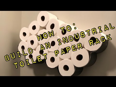 Making an Industrial cloud shaped toilet paper rack
