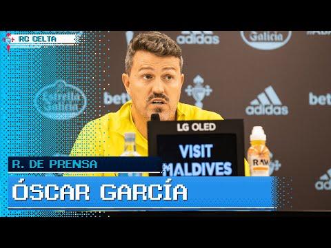 Rueda de prensa de Óscar García previa al Elche CF - RC Celta