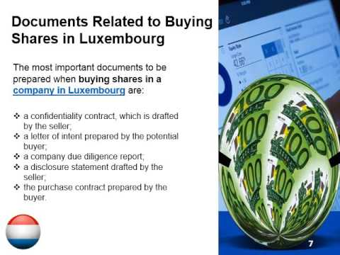 Buying Shares in a Company in Luxembourg