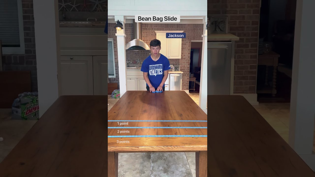 Bean bag slide challenge!!