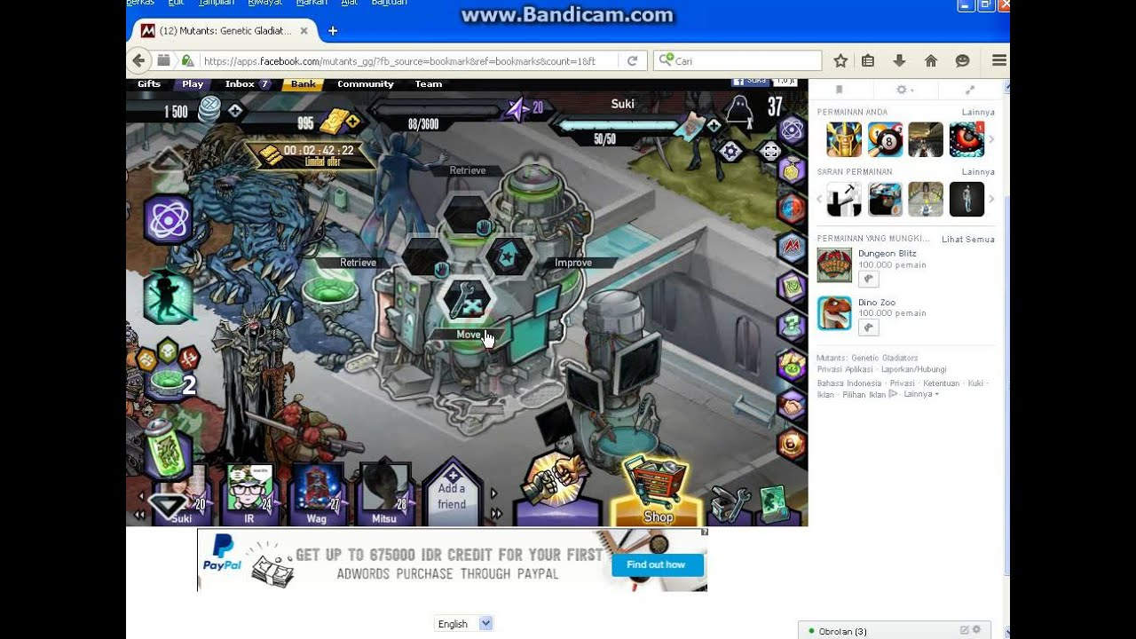 Cara Cheat Mutants Genetic Gladiator RA-DK-Bot - YouTube