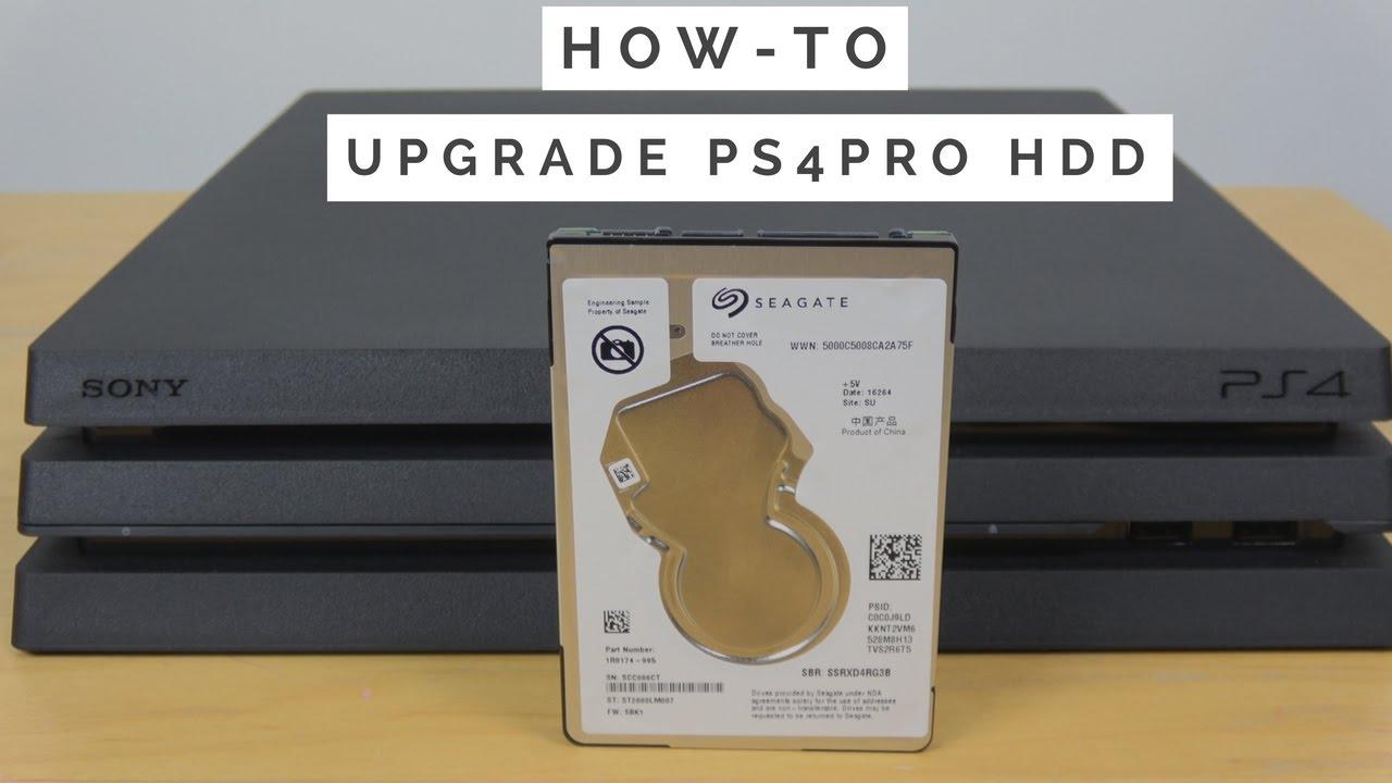 upgrade PS4 PRO internal hard drive