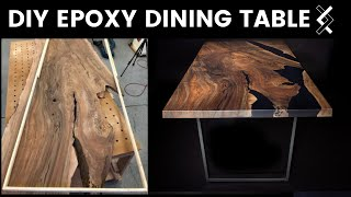 DIY Epoxy Dining Table Build—Part Two of Two—How to Woodworking