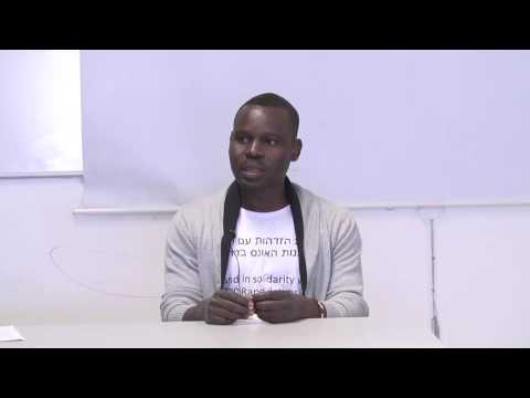 Taj Haroun speaks about fleeing the genocide in Darfur and being a Sudanese refugee in Israel