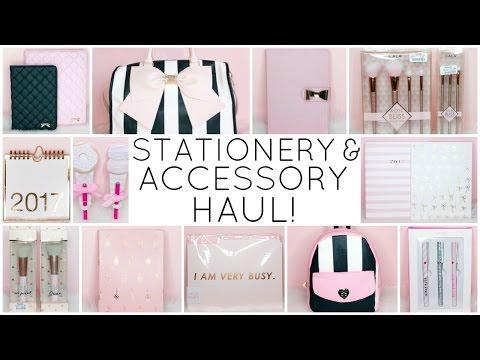 STATIONERY & ACCESSORY HAUL! ♡  Mini Announcement ♡ Spring 2017 ♡ HomeGoods, TJ Maxx & Marshalls