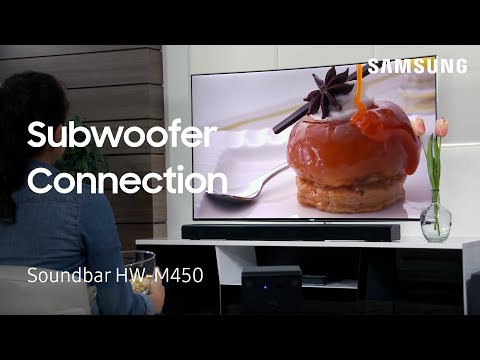 How to Connect The Subwoofer To Your HW-M450 Flat Soundbar
