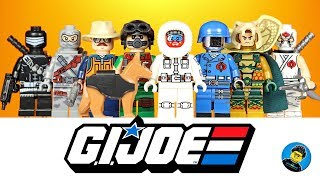 Lego G.I. Joe Classic Collection Unofficial Minifigures w/ Cobra Commander Snake Eyes & Storm Shadow