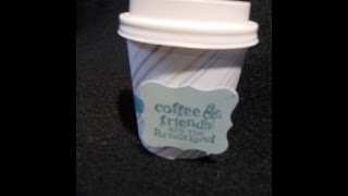 Coffee Cup Treat Holder