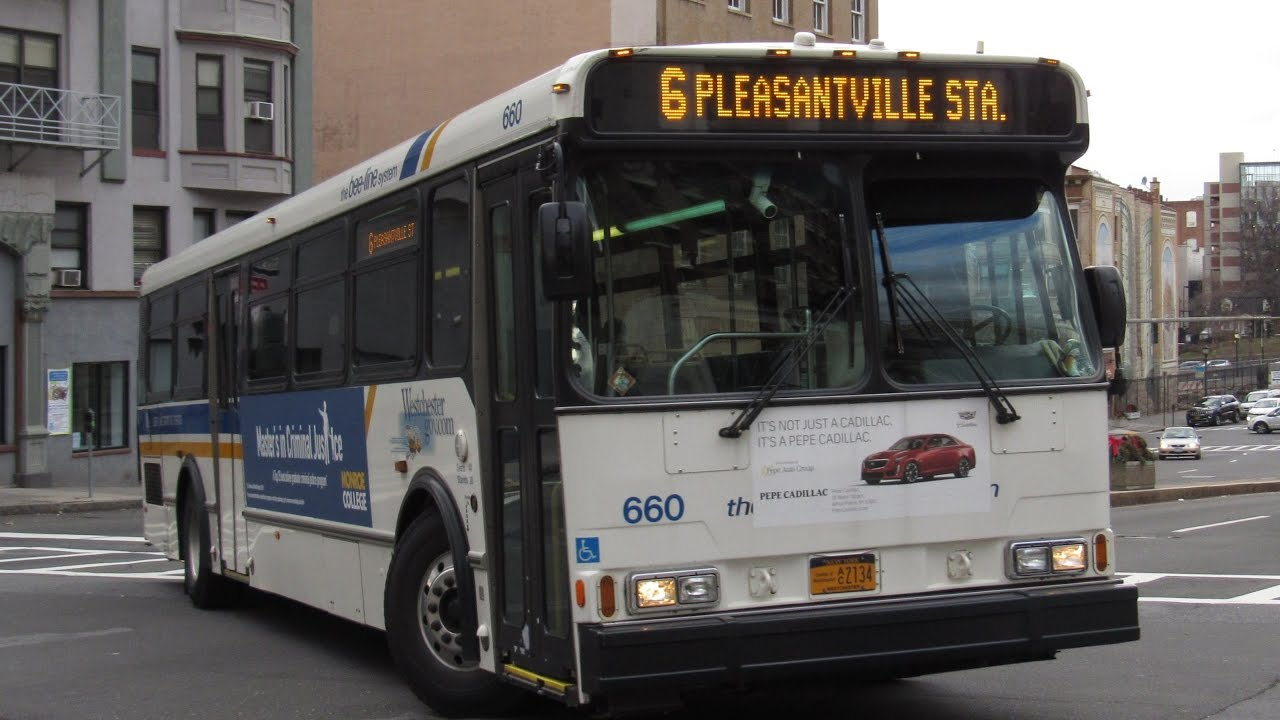 Bee Line Bus On Board Orion V  Bus From White Plains To Pleasantville
