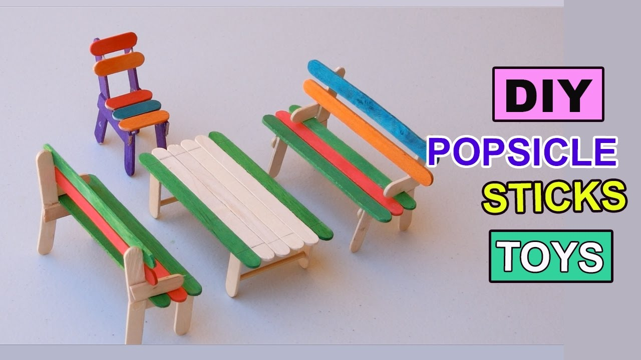 DIY Popsicle Sticks Toys How To Make Furniture