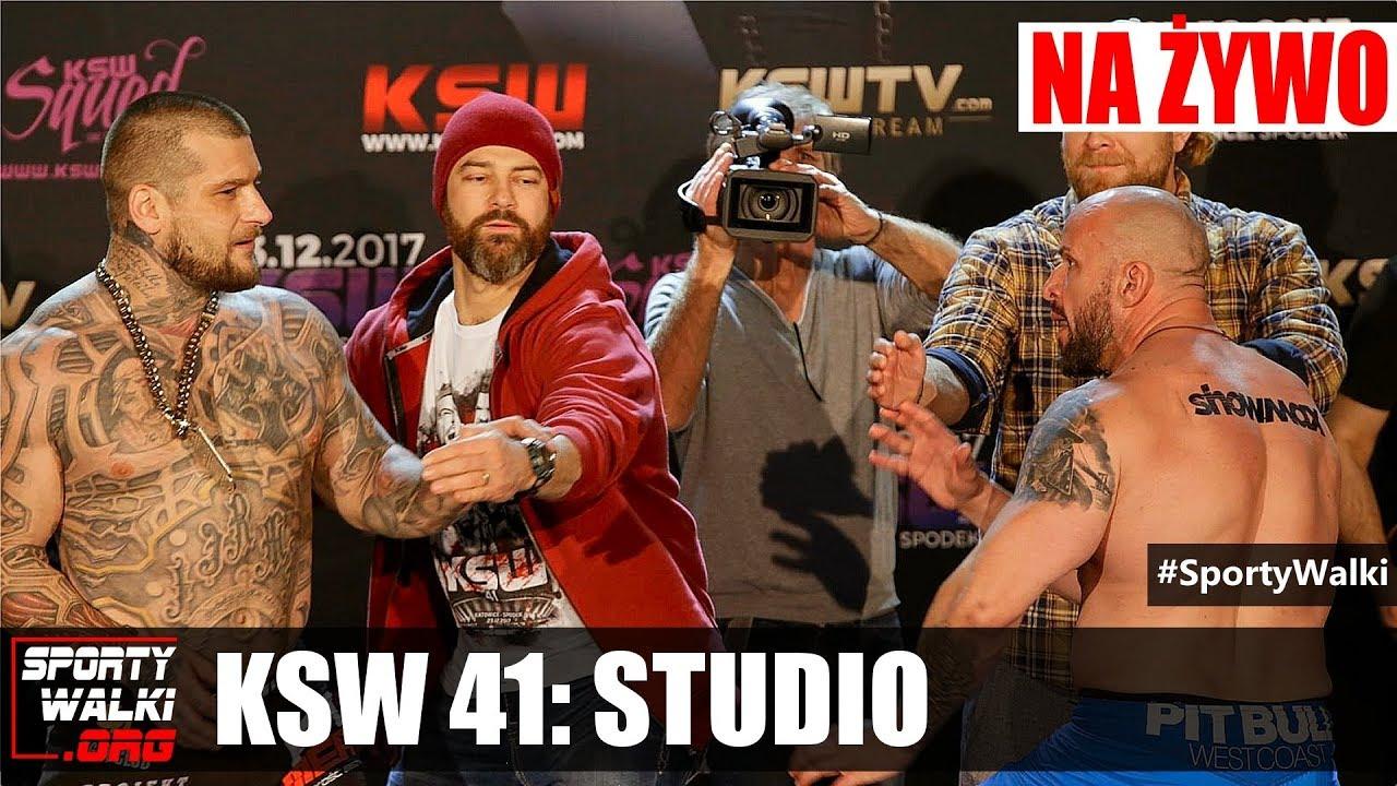 KSW 41: Na żywo studio w media roomie, rozmowy, wywiady, plotki