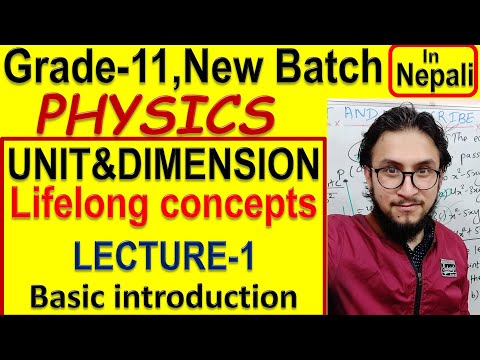 Unit And Dimension Lecture-1   Physics    Class-11 New Batch  lifelong Concepts   Watch In 1080p