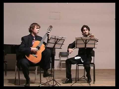 G. Dzhaparidze suite for guitar fnd violin (part 1)