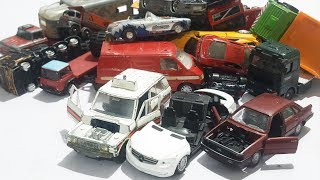 Box full of Abandon cars , Crash Trucks , Police Cars, Siku cars for boys Video for kids new cars