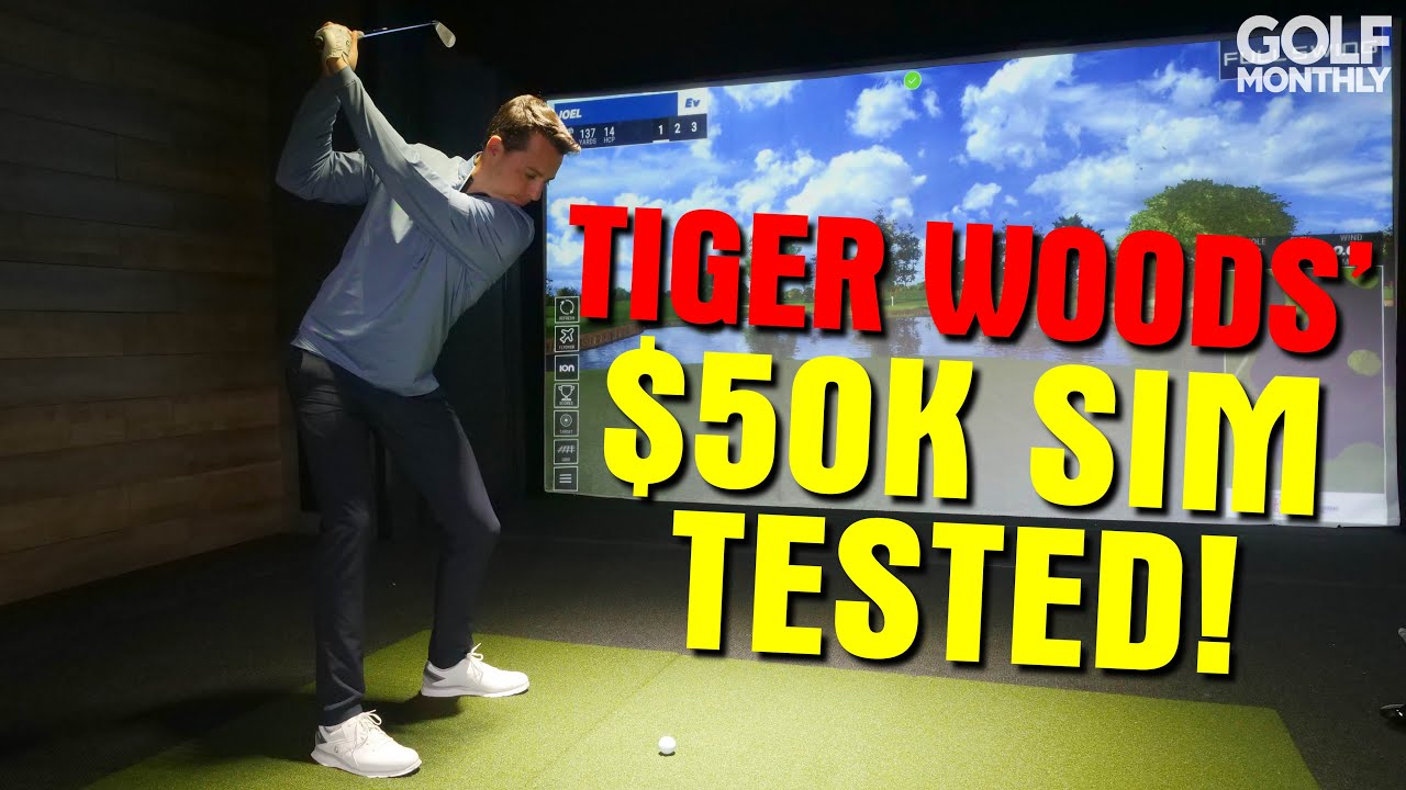 WE TEST TIGER WOODS' $50K HOME SIMULATOR!