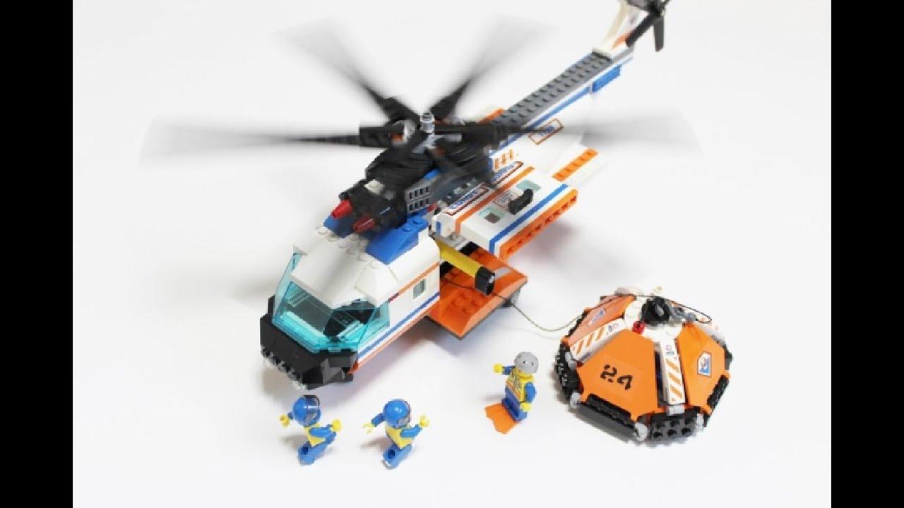 레고 7738 헬리콥터와 구명정 LEGO 7738 Coast Guard Helicopter & Life Raft - YouTube