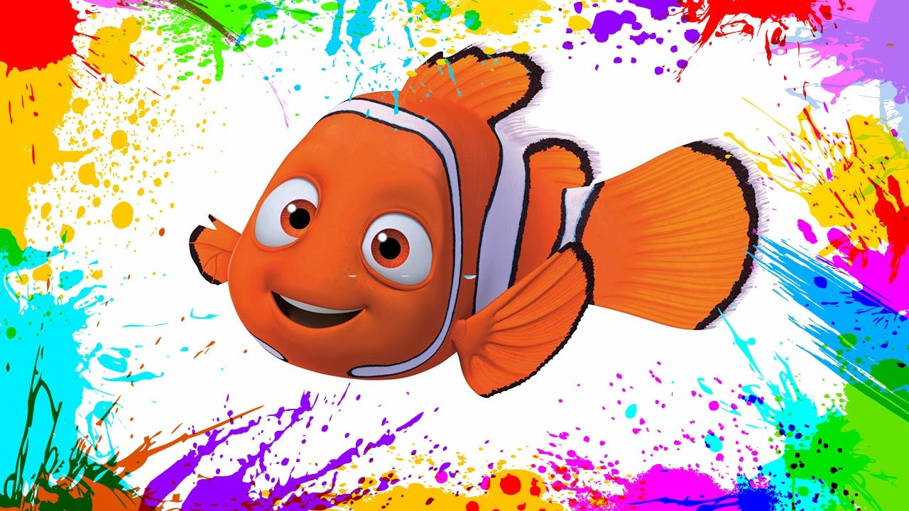 Painting Finding Nemo | Coloring Book Pages for Kids | Paint and ...