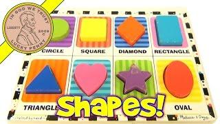 Melissa & Doug Chunky Colorful Shapes Wood Puzzle