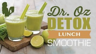 DR OZ 3 DAY DETOX LUNCH GREEN SMOOTHIE DRINK by The Blender Babes