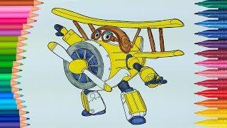 Super Wings Donnie in Italiano | Come disegnare e colorare | Disegni da colorare | Cose da colorare