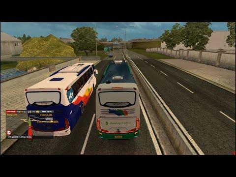 bandung xpress ngeblong di map jowo v5 || ETS2 MOD Bus Indonesia