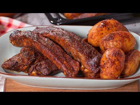 Costillas de Cerdo al Horno con Patatas | Recetas Fáciles de Carne Asada Adobada