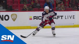 Cam Atkinson Goes Over Craig Anderson's Glove To Score Shorthanded