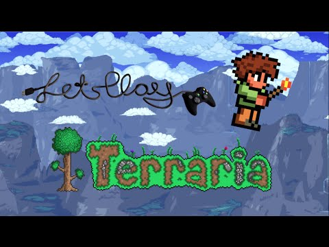 Lets Play Terraria! || Episode 2 - Death by floor!