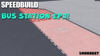BUILDING A BUS STATION! (Road Markings) | ROBLOX STUDIO