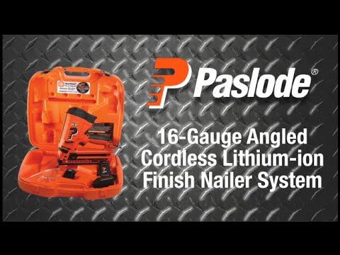 Paslode 16-gauge Angled Cordless Li-ion Finish Nailer - The Home ...